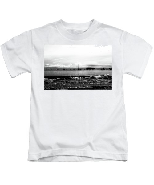 Boats And Clouds Kids T-Shirt
