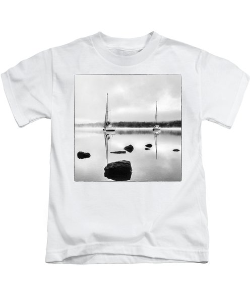 Boats On Ullswater In The Lake District Kids T-Shirt