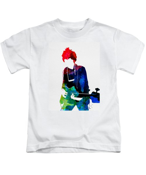 Bob Watercolor Kids T-Shirt by Naxart Studio