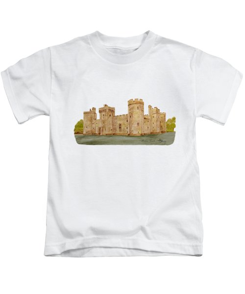 Bodiam Castle Kids T-Shirt by Angeles M Pomata