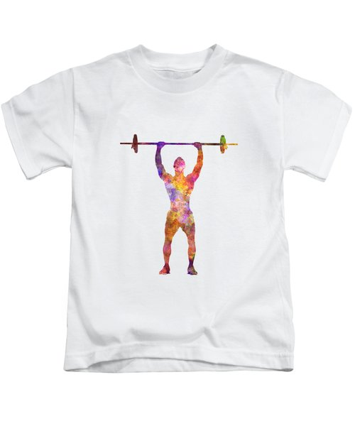 Body Buiding Man Isolated  Kids T-Shirt