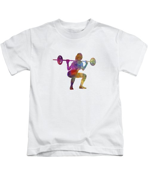 Body Buiding Woman Isolated Kids T-Shirt