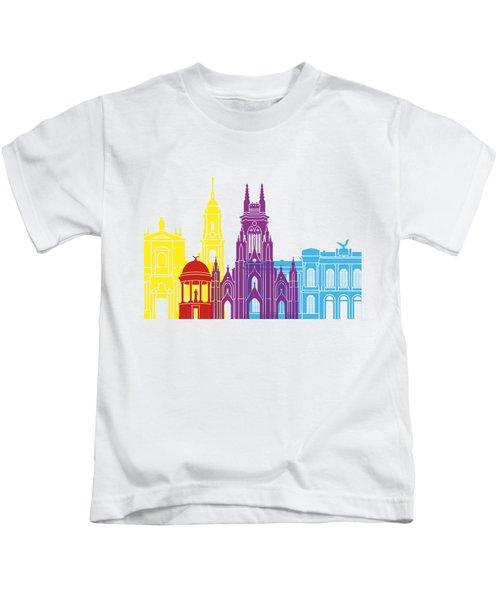 Bogota Skyline Pop Kids T-Shirt