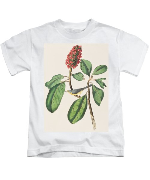 Bonaparte's Flycatcher Kids T-Shirt by John James Audubon