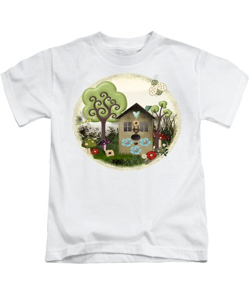 Bonnie Memories Whimsical Mixed Media Kids T-Shirt by Sharon and Renee Lozen