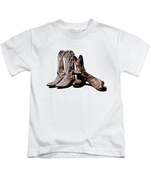 Boot Friends White Background Kids T-Shirt