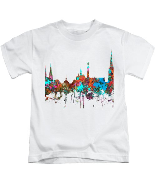Bordeaux France  Skyline  Kids T-Shirt by Marlene Watson