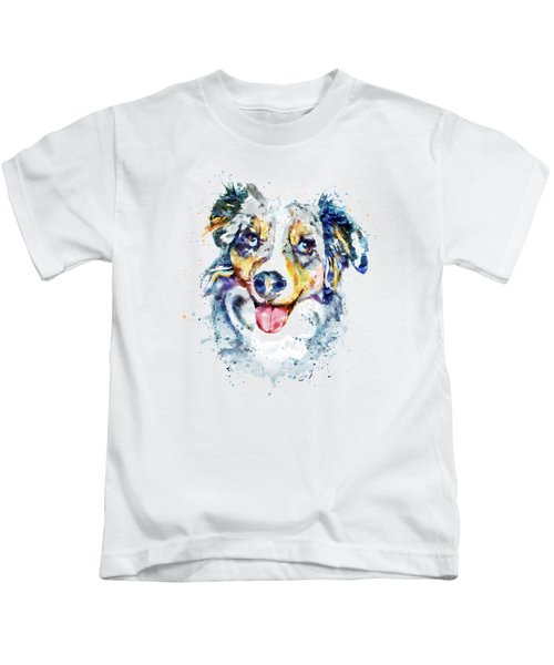 Border Collie  Kids T-Shirt by Marian Voicu