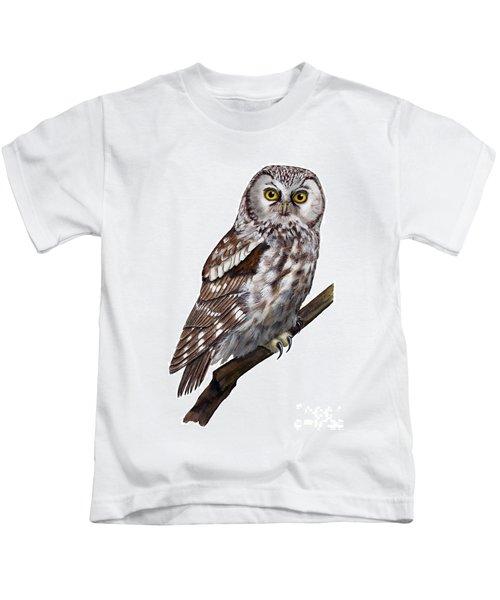 Boreal Owl Tengmalm's Owl Aegolius Funereus - Nyctale De Tengmalm - Paerluggla - Nationalpark Eifel Kids T-Shirt