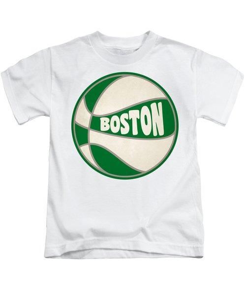 Boston Celtics Retro Shirt Kids T-Shirt by Joe Hamilton