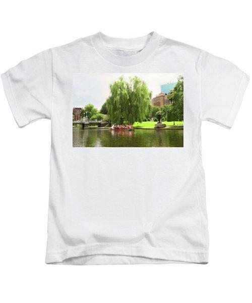 Boston Garden Swan Boat Kids T-Shirt