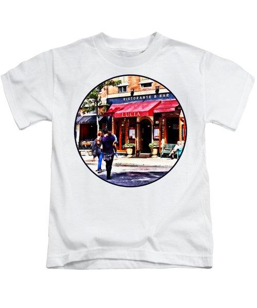 Boston Ma - Hanover Street North End Kids T-Shirt