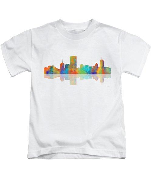 Boston Ma. Skyline Kids T-Shirt by Marlene Watson