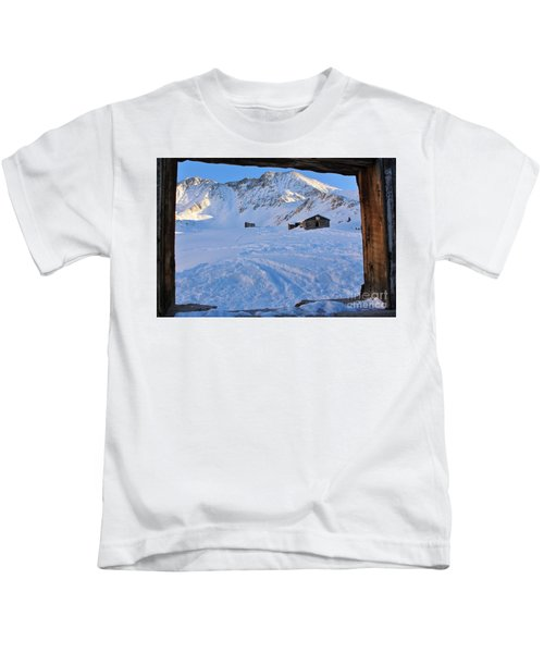 Boston Mine Winter Window Kids T-Shirt