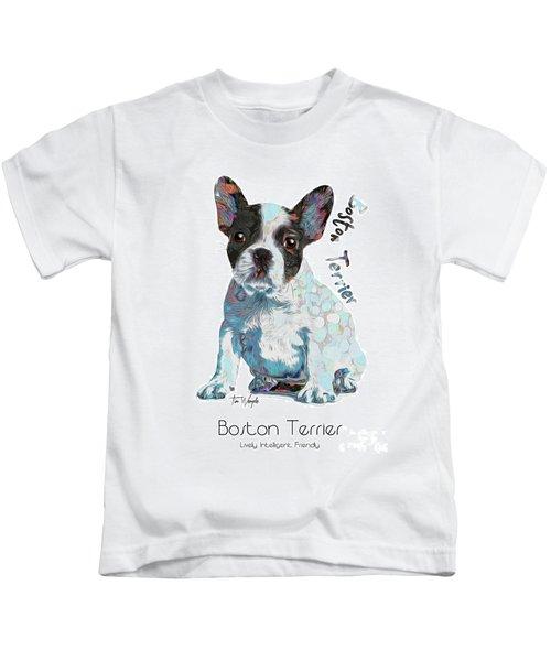 Boston Terrier Pop Art Kids T-Shirt