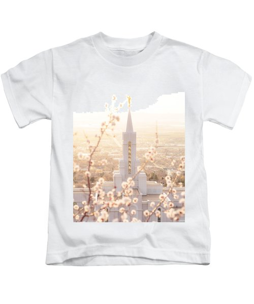 Bountiful Temple Blooms Kids T-Shirt