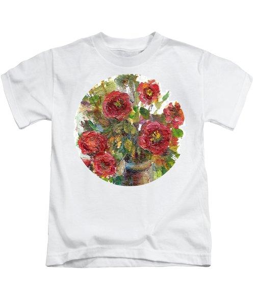 Bouquet Of Poppies Kids T-Shirt