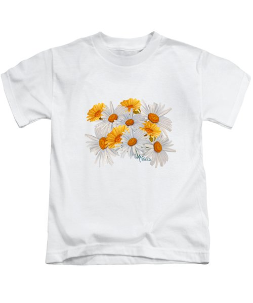 Bouquet Of Wild Flowers Kids T-Shirt by Angeles M Pomata