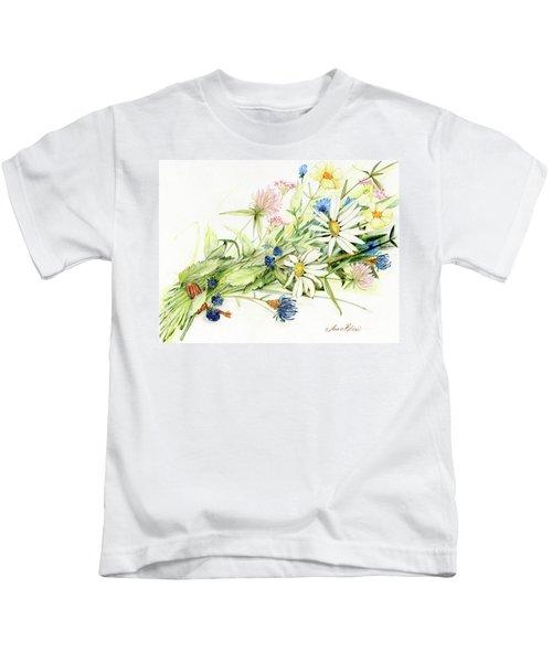 Bouquet Of Wildflowers Kids T-Shirt