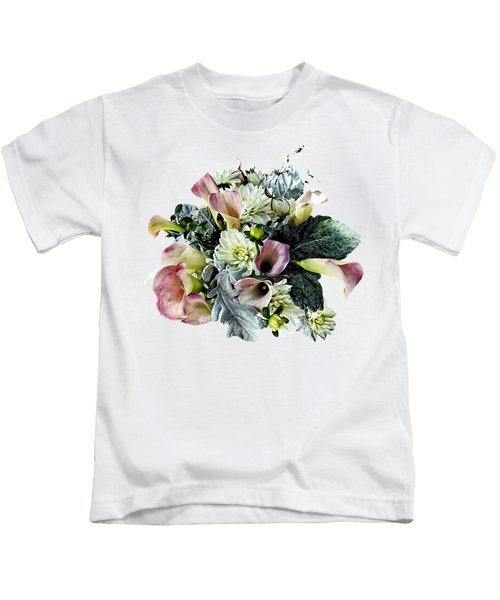 Bouquet With Pink Calla Lilies Kids T-Shirt