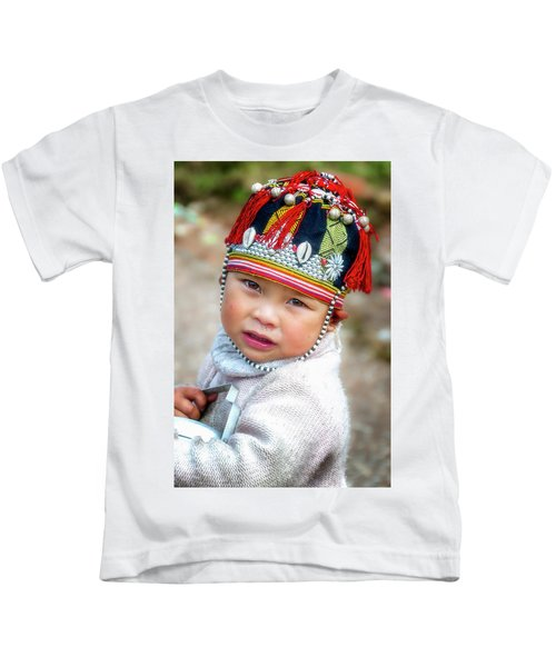 Boy With A Red Cap. Kids T-Shirt