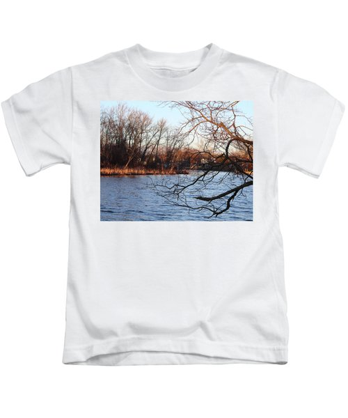 Branches Over Water Kids T-Shirt