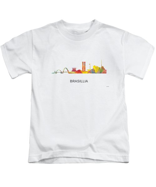 Brasillia Brazil Skyline Kids T-Shirt