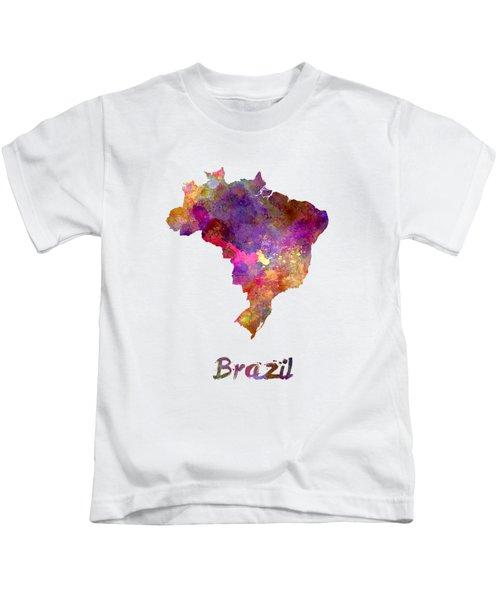 Brazil In Watercolor Kids T-Shirt