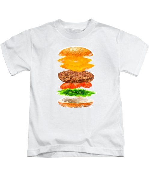 Brazilian Salad Cheeseburger Kids T-Shirt