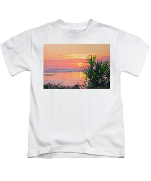 Breach Inlet Sunrise Palmetto  Kids T-Shirt