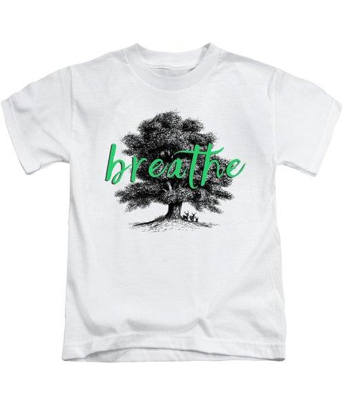 Breathe Shirt Kids T-Shirt by Edward Fielding