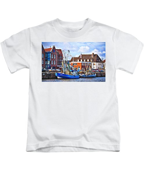 Bremerhaven Harbor, Germany Kids T-Shirt