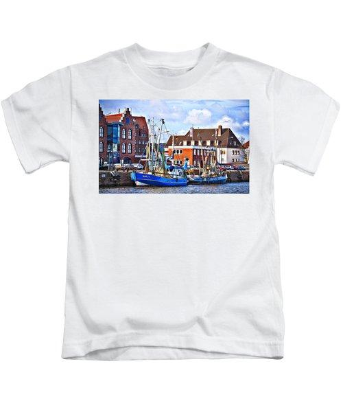 Bremerhaven Harbor, Germany Kids T-Shirt