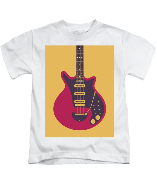 Red Special Guitar - Gold Kids T-Shirt
