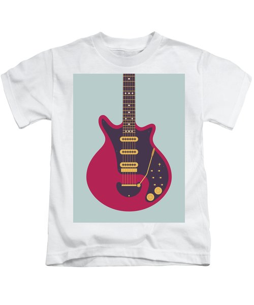 Red Special Guitar - Grey Kids T-Shirt