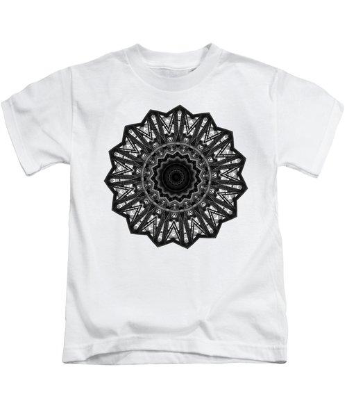 Bridge Construction Kaleidoscope By Kaye Menner Kids T-Shirt