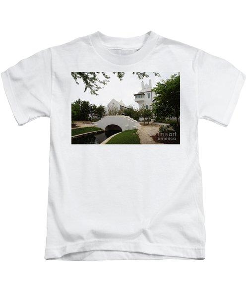 Bridge In Alys Beach Kids T-Shirt by Megan Cohen