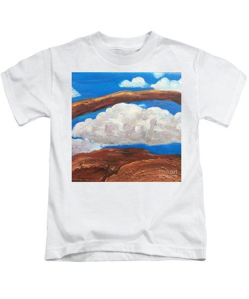 Bridge Over Clouds Kids T-Shirt