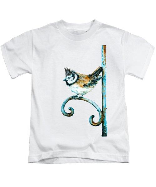Bridled Titmouse Kids T-Shirt