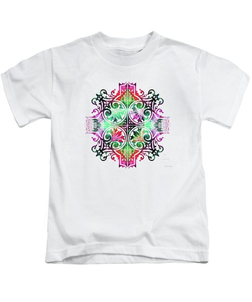 Bright Pattern Art - Color Fusion Design 9 By Sharon Cummings Kids T-Shirt