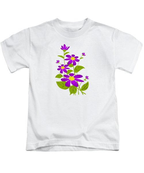 Bright Purple Kids T-Shirt by Anastasiya Malakhova