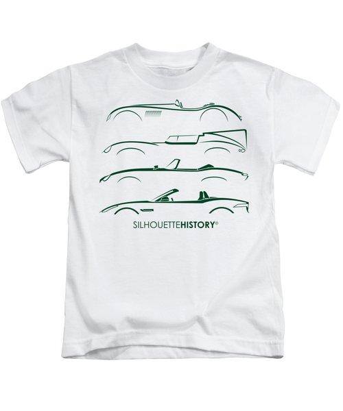 British Alphabet Silhouettehistory Kids T-Shirt