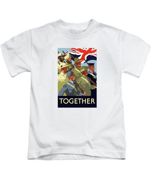 British Empire Soldiers Together Kids T-Shirt