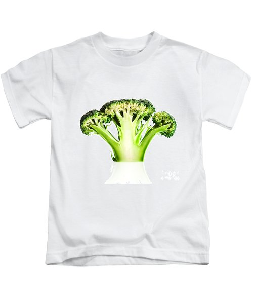 Broccoli Cutaway On White Kids T-Shirt