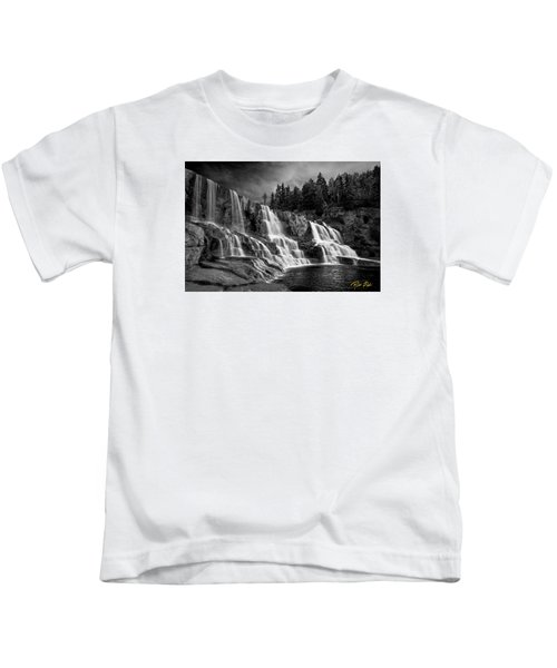 Brooding Gooseberry Falls Kids T-Shirt