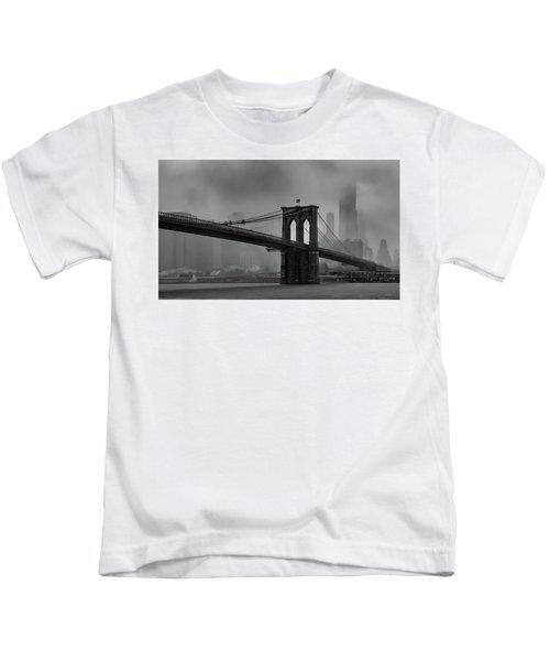 Brooklyn Bridge In A Storm 2 Kids T-Shirt