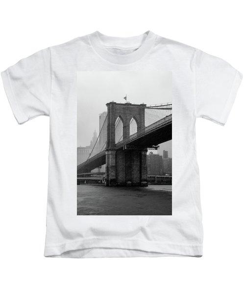 Brooklyn Bridge In A Storm Kids T-Shirt