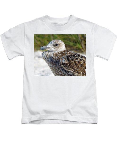 Brown Gull At Wiggins Pass Kids T-Shirt