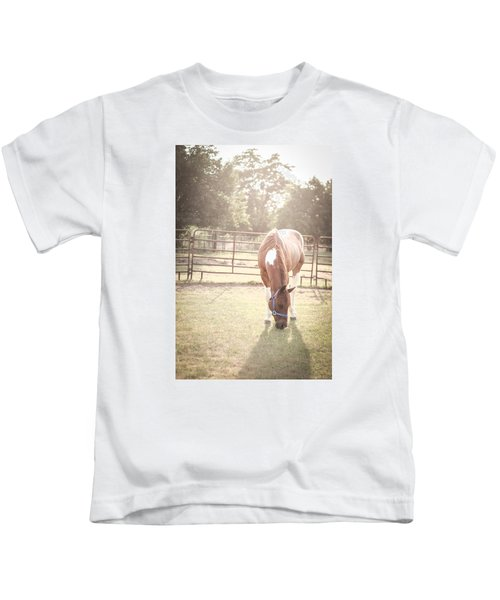 Brown Horse In A Pasture Kids T-Shirt