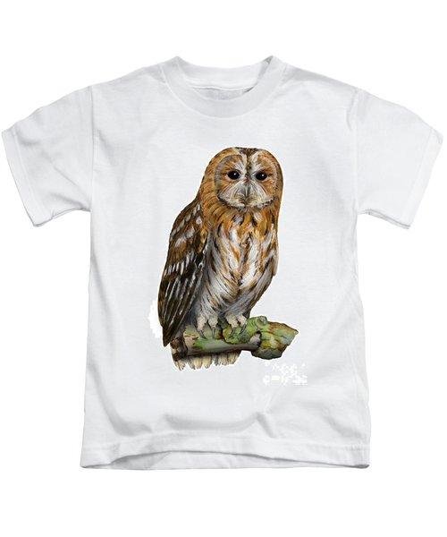 Brown Owl Or Eurasian Tawny Owl  Strix Aluco - Chouette Hulotte - Carabo Comun -  Nationalpark Eifel Kids T-Shirt